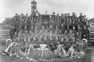 Harmonie de mineurs de la Société des Mines de Lens à Wingles en 1938